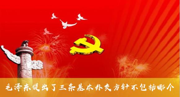 毛澤東提出了三條基本外交方針不包括哪個